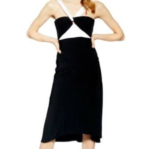 Topshop Halter Midi Cocktail Dress